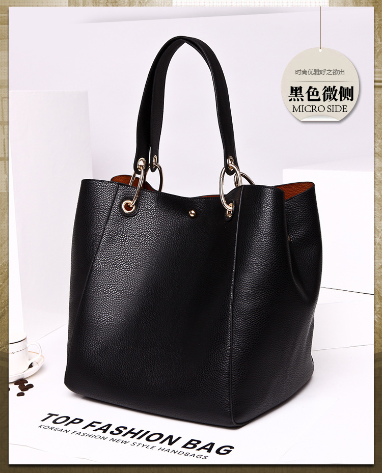 PU Tote Ladies Casual Large Capacity Shoulder Bag 12 colours 47