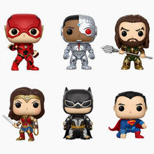NEW 10cm justice league batman flash cyborg superman Aquaman action figure big Bobble Head Q Edition no box for Car Decoration(China)