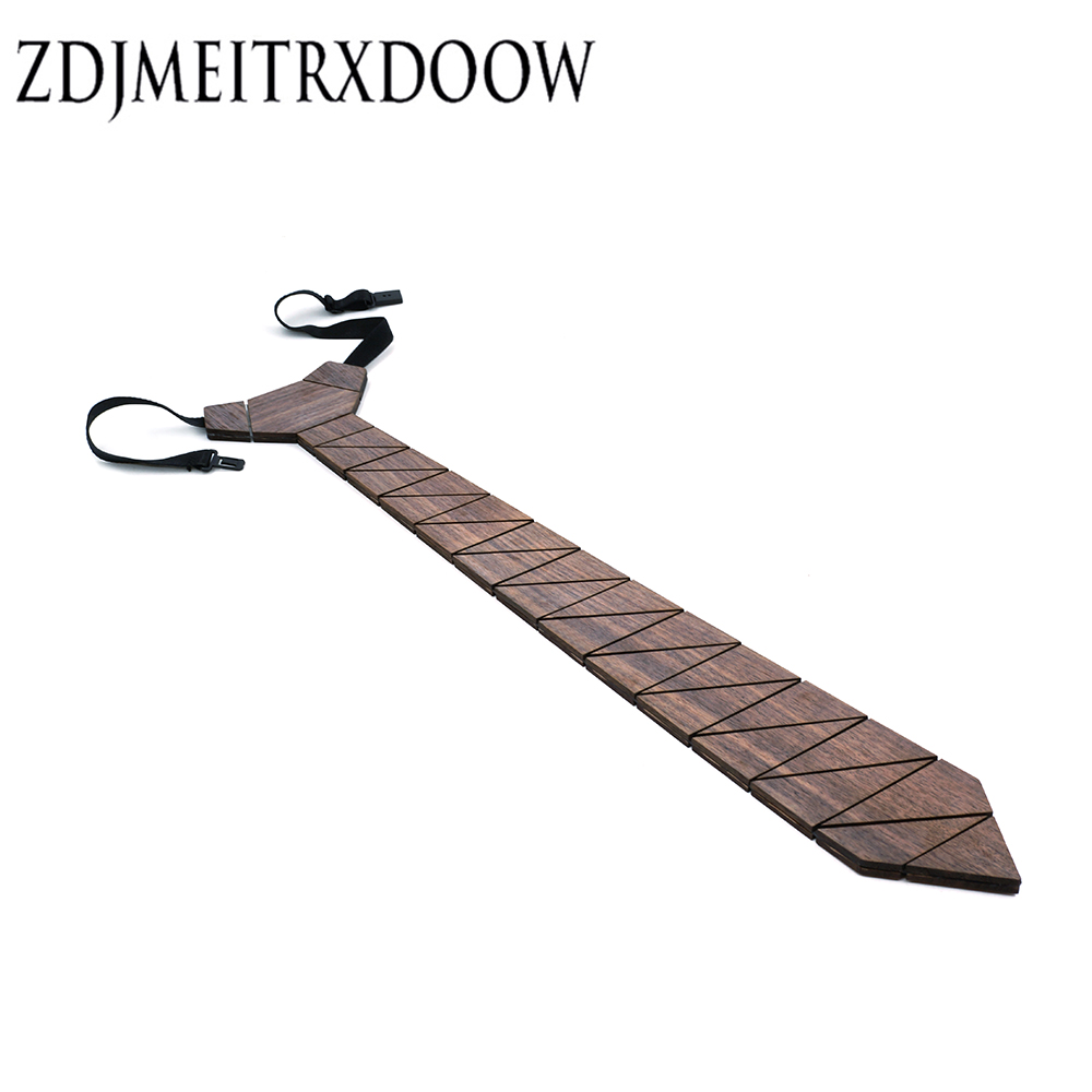 ZDJMEITRXDOOW Design Fashion Wooden Neckties Ties For Men Suit For Party Geometric Ties Gravata Mens Neck Tie Sets