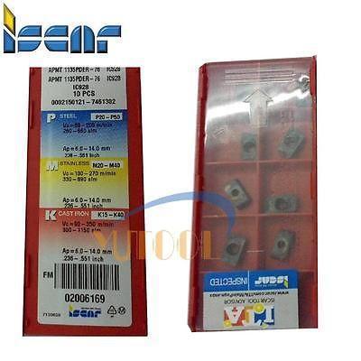 10 pièces ISCAR carbure insert APMT1135 PDER-76 IC928 CNC Fraisage inserts en carbure