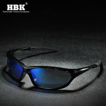 HBK Mirror Driver Polarized Sunglasses Men Light Weight