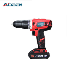 AOBEN 20V AC Dremel Cordless Drill With TWO Lithium Batteries Power Electrical Tools Drilling Machine Impact Drill With BMC