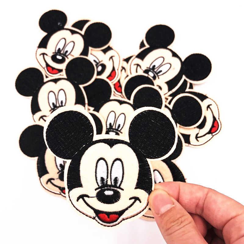 1 шт. Микки Популярные Модные гладить на патч для шитья на вышитая аппликация Ткань для куртки значок одежда наклейки
