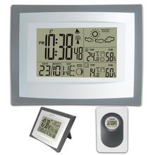 433MHz RCC Wireless Weather Station with Indoor Outdoor Digital Thermometer Hygrometer Alarm Clock Weather Forecast Wholesale стоимость