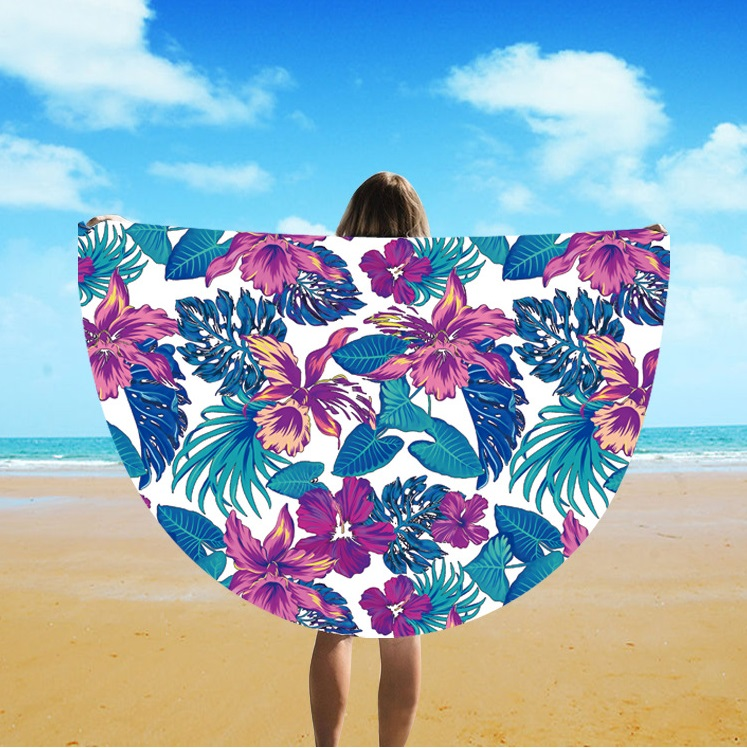 Round New Yoga Mat For Beach Trade Hot Style Sun Cape Towel St06-122