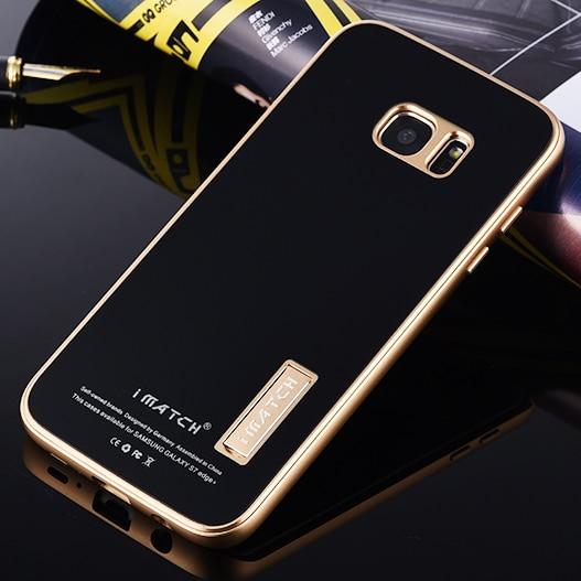 imágenes para Lujo 9 H Dureza Vidrio Templado Contraportada Premium De Aluminio de Parachoques del Metal conjunto de Casos de Teléfono Para Samsung Galaxy S7/S7 Borde Caso