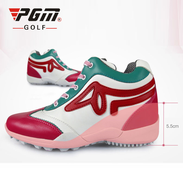 PGM Golf Shoes Women 5.5cm Wedge Heel Sports Shoes Brand Women Golf Shoes  Eva Sneakers Anti-Skid Breathable Women s Golf Shoes 49293ea3e9