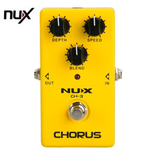 NUX Protable Guitar Simulation Chorus Effect Device CH-3 Guitar Effect Pedal Guitar Great Booster Yellow free shipping