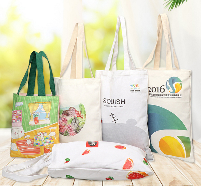 Logo de personnalisation déchantillon imprimé beau sac de toile imprimé créatif sacs fourre-tout de toile de Production doem