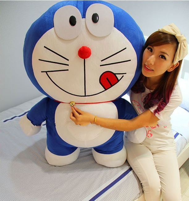 100cm Super cute Doraemon plush toy, large plush toys,high quality Children's Gift super cute plush toy dog doll as a christmas gift for children s home decoration 20