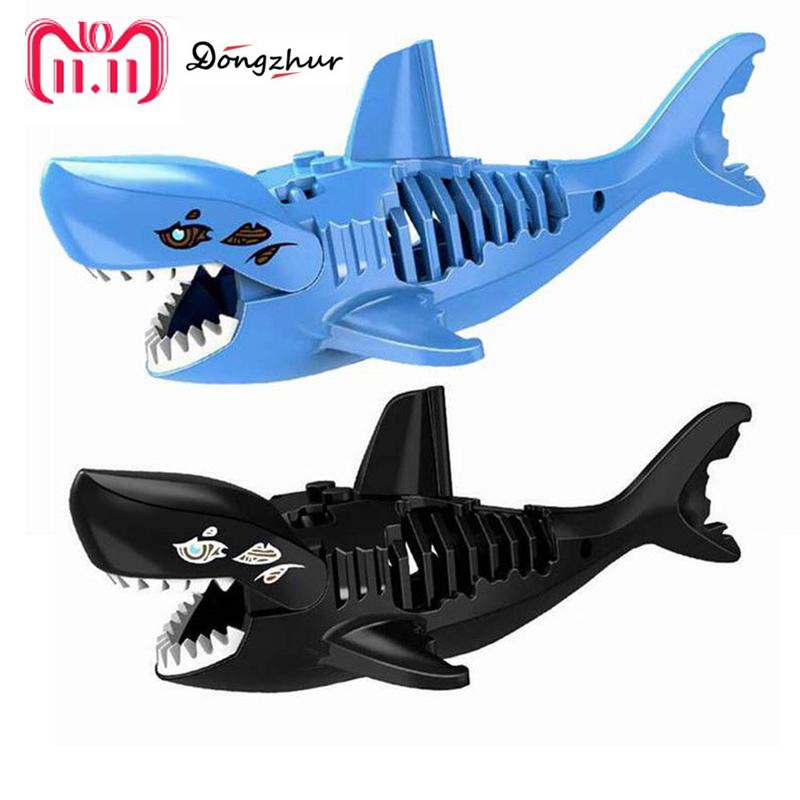 3D Three-dimensional Shark Assembled Toys Ghost Zombie Shark Jack Sparrow Pirates Of The Caribbean Hulk LEGOINGS Toys For Child pirates of the caribbean jack sparrow 3d print mens shoulder backpack skull heads student children school bags for boys book bag