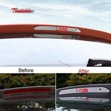 Tonlinker Cover sticker For Skoda KAROQ 2018 Car Styling 1 PCS Stainless steel Exterior Rear brake light stickers