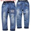 3873 boy regular jeans otoño del resorte pantalones casuales pantalones vaqueros de los niños pantalones de los niños niños de la manera 2016 nuevo azul suave denim