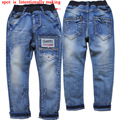 3873 regular boy jeans spring autumn casual pants trousers kids jeans children's pants children fashion 2016 new blue soft denim