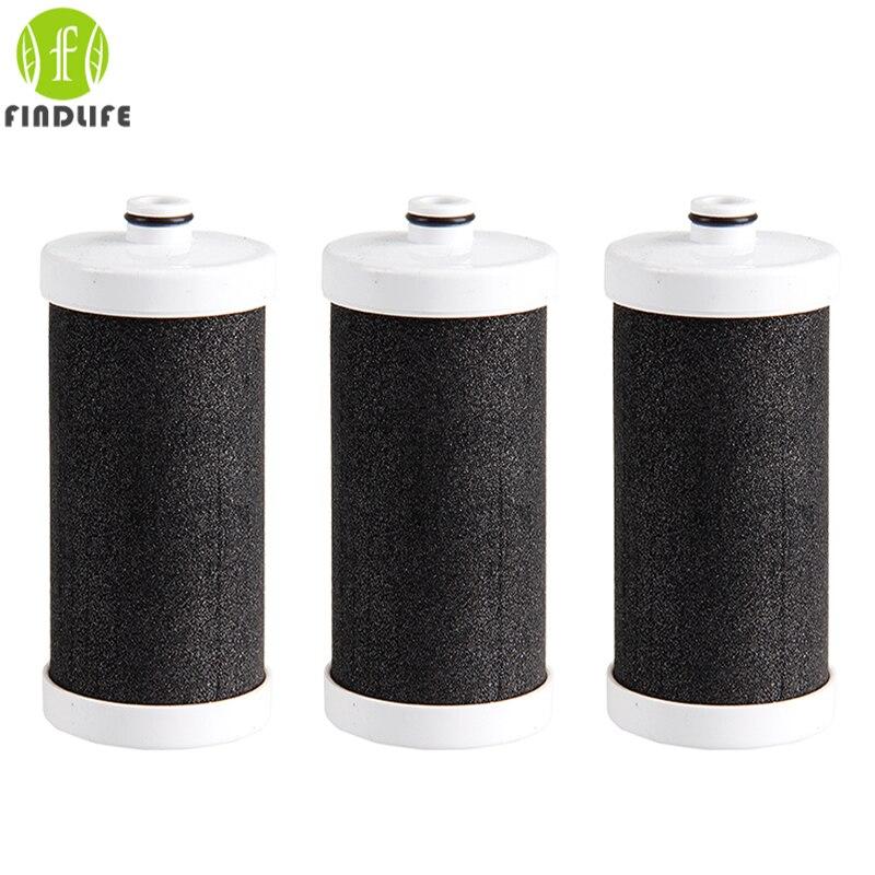 3 peças filtro de Água Da Cozinha do Agregado Familiar Filtro de Grifo Saúde forTap coco Carvão Ativado Filtro Purificador de Água da Torneira
