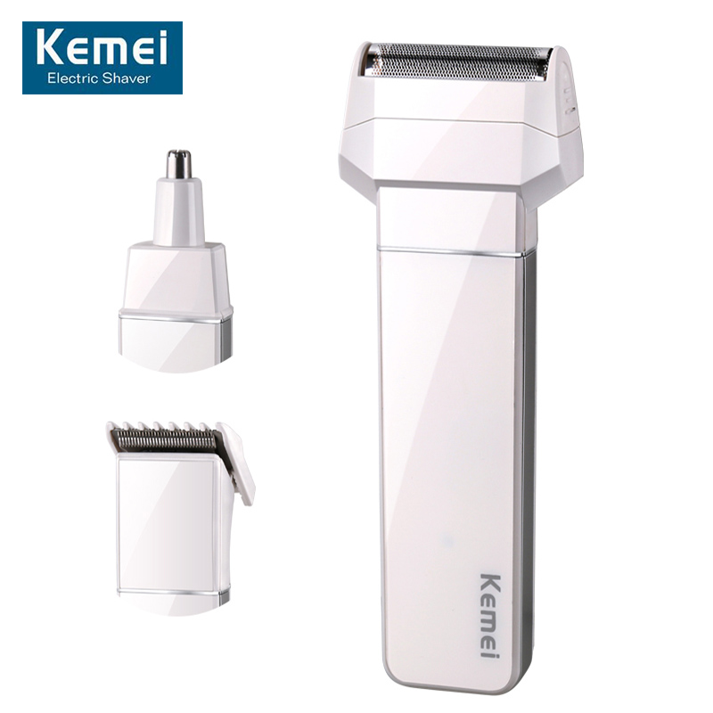 Original KM-3004 New 3 in1 Electric Shaver Reciprocating Electric Shaving Razors Men Face Care with Hair trimmer &Nose trimmer 2017 new face care electric lady