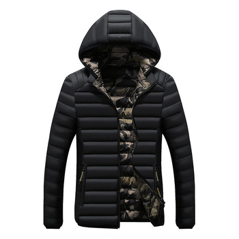2019 Winter New Casual Hooded Winter Clothes Men