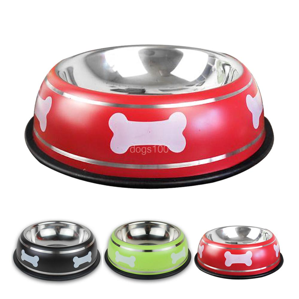 Stainless Steel Pet Dog Bowl Puppy Cat Food Drink Water Dish