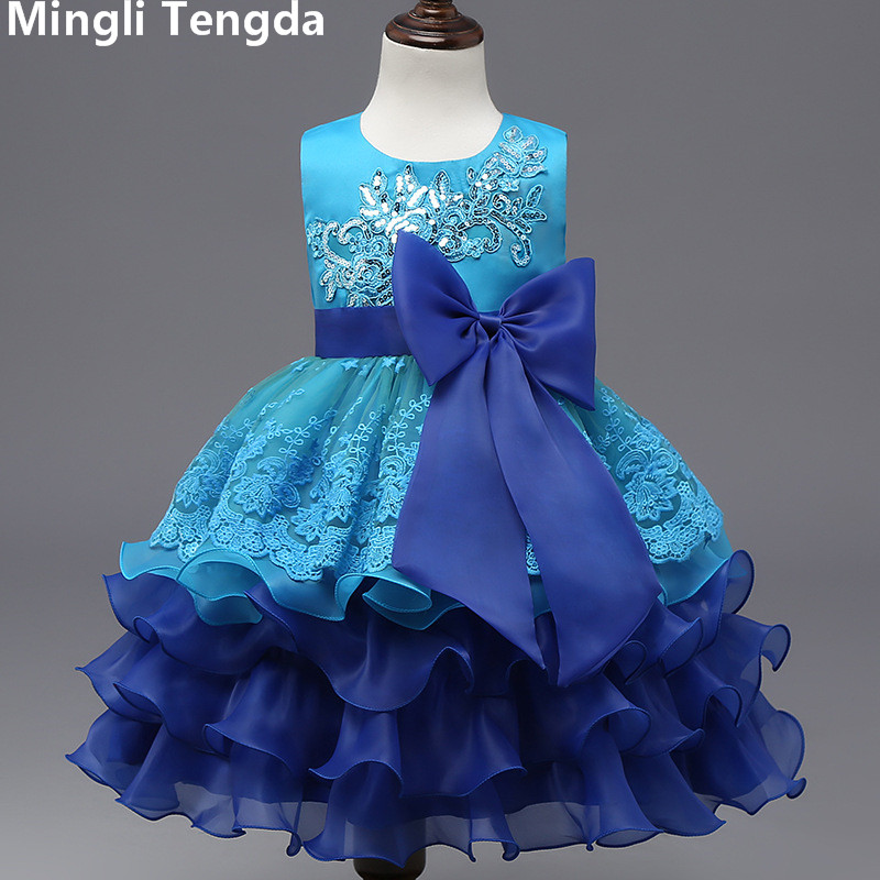 Mingli Tengda   Flower     Girl     Dresses   for Weddings Lace   Dresses   for   Girls     Flower     Girl     Dresses   O-Neck Sleeveless Elegant   Girls     Dress