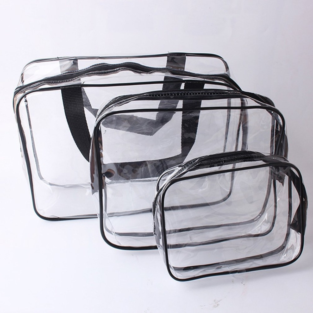 Beauty & Health Small/medium/large Size Transparent Pvc Women Makeup Cosmetic Bags Waterproof Travel Use Beauty Toiletry Bag Organizer Makeup
