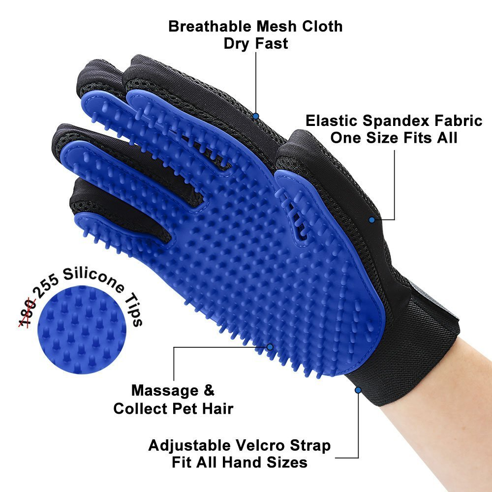 Image 3 - Pet Cleaning Kit Surprise Offer Pet Grooming Glove Hair Remover Brush Gentle Deshedding Pet Massage Gloves Perfect For Dogs Cats-in Dog Combs from Home & Garden