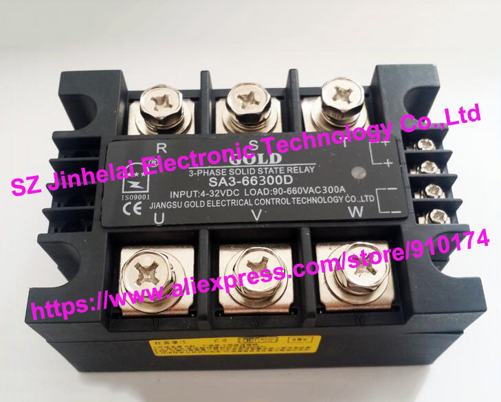 New and original SA366300D SA3-66300D GOLD 3-PHASE Solid state relay 4-32VDC,90-660VAC 300A new and original sa34080d sa3 4080d gold solid state relay ssr 480vac 80a