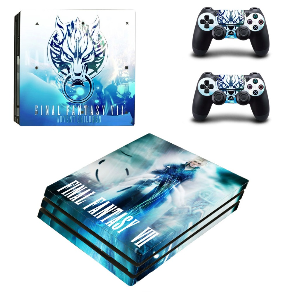 PS4 Pro Skin Sticker Cover For Sony Playstation 4 Pro Console&Controllers - Final Fantasy VII