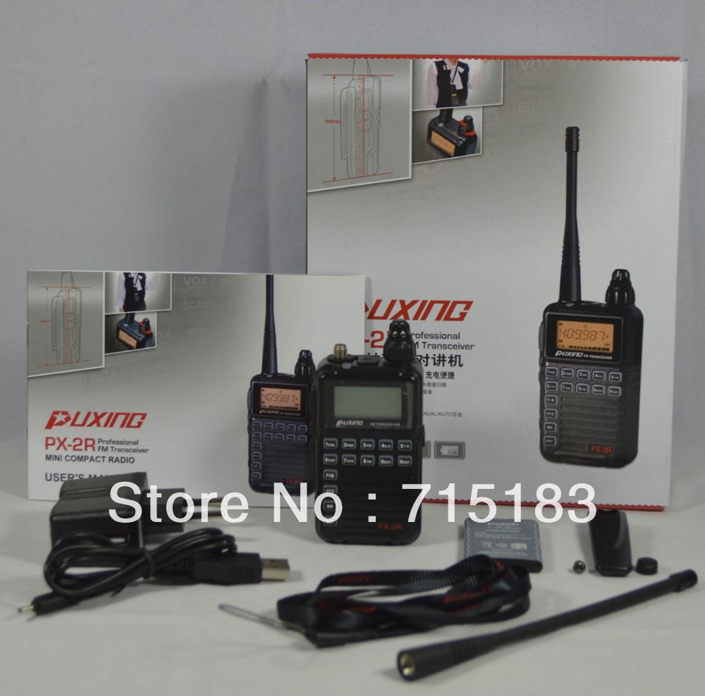 Updated Version Puxing PX-2R PX VHF136-174MHZ TX & RX, + UHF400-470MHz RX FM transceiver with Keypad LCD for security,hotel,hamUpdated Version Puxing PX-2R PX VHF136-174MHZ TX & RX, + UHF400-470MHz RX FM transceiver with Keypad LCD for security,hotel,ham