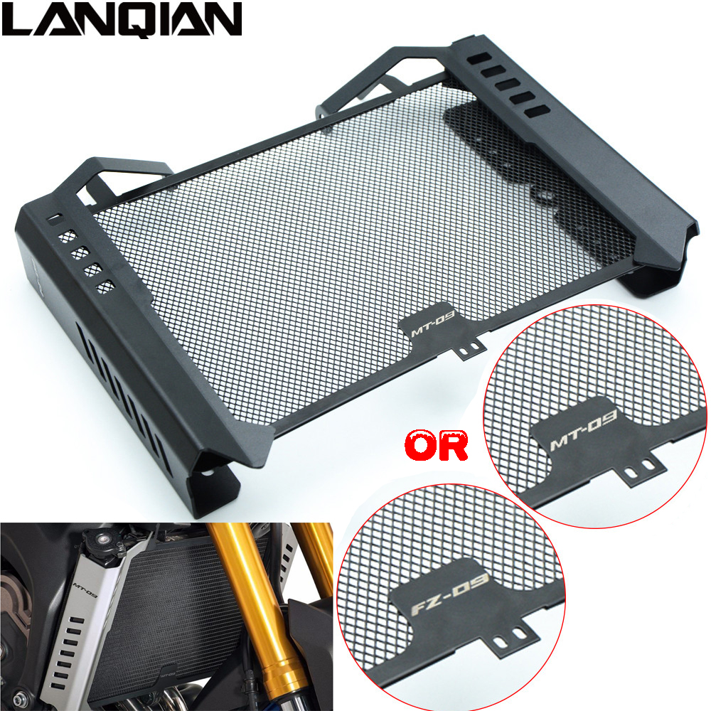 Motorcycle Radiator Side Cover Set & Radiator Grille Guard Cover Protector For Yamaha MT09 FZ09 2014 2015 MT-09 FZ-09 FZ MT 09 arashi motorcycle radiator grille protective cover grill guard protector for 2008 2009 2010 2011 honda cbr1000rr cbr 1000 rr