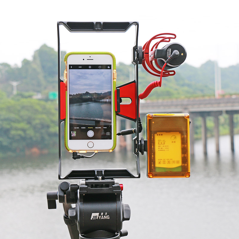 US $6 73 75% OFF|Ulanzi Smartphone Video Rig Vlogging Record Handle Rig  Case Filmmaking Stabilizer Grip Phone Mount for iPhone X 7 Samsung BY  MM1-in