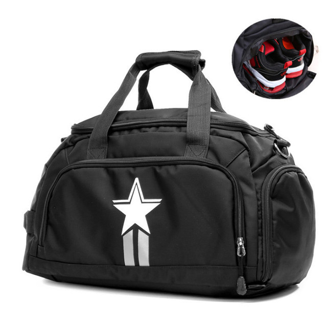 Durable Nylon Multi-function Sport Gym Bag for Men Women Fitness Outdoor  Travel Training Independent Shoes Storage sac de sport 8a81450cf30e4