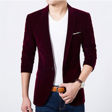 2018 nuevo de pana traje masculino chaqueta hombres Slim negocio color  sólido pequeño traje casual traje 24befdd610fd