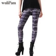 Brands Women Fashion Legging Aztec Round Ombre Printing leggins Slim High Waist Leggings Woman Pants