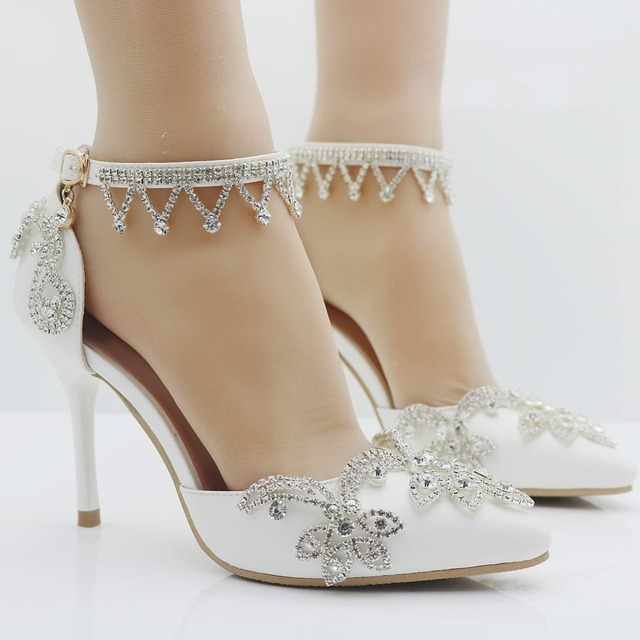Women Adults Sandals Summer Wedding Shoes New Rhinestone Inlaid Bride With High Thin Heel Stage
