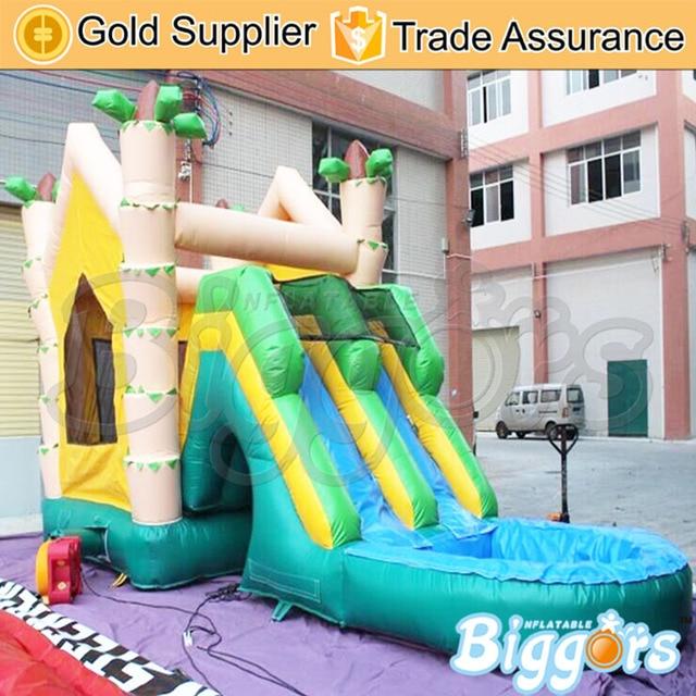 Inflatable Biggors Оптовая Цена Надувной Батут Горка С Бассейном Для Аквапарка
