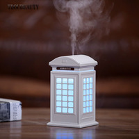 2019 Creative New Phone Booth Humidifier Retro Style Humidifier USB Colorful Atmosphere Light Humidifier Free Shipping