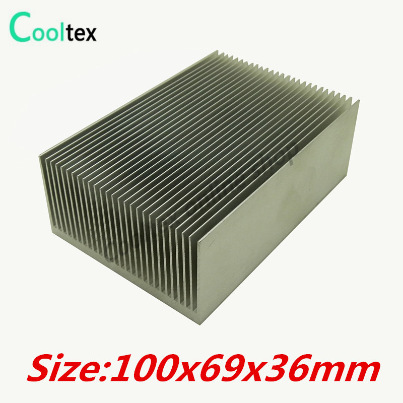 100x69x36mm Aluminum HeatSink heat sink radiator for Electronic  Power Amplifier Chip VGA RAM  LED COOLER cooling 20pcs lot aluminum heatsink 14 14 6mm electronic chip radiator cooler w thermal double sided adhesive tape for ic 3d printer
