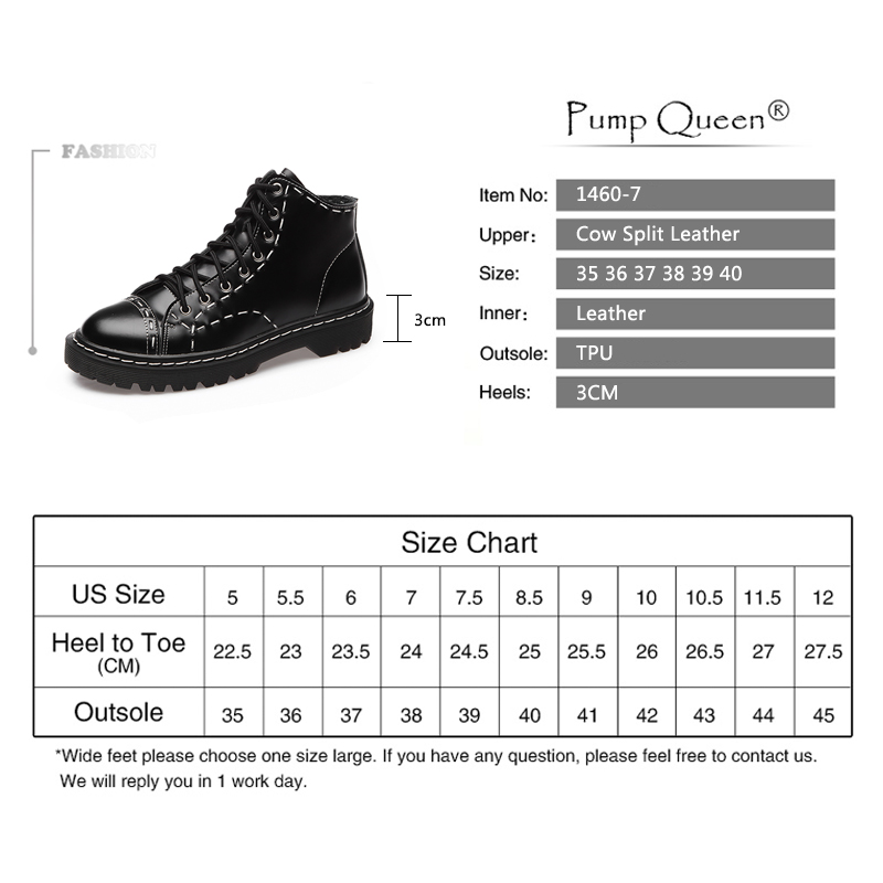 Size 35-44 Women Boots Genuine Leather Flat Martin Ankle Boots Vintage Womens Motorcycle Boots Female Autumn Shoes