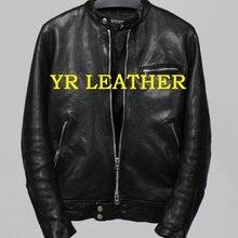 YR!Free shipping.Pakistan tanning sheepskin.Brand Luxury motor biker style leather jacket,men slim genuine leather coat,