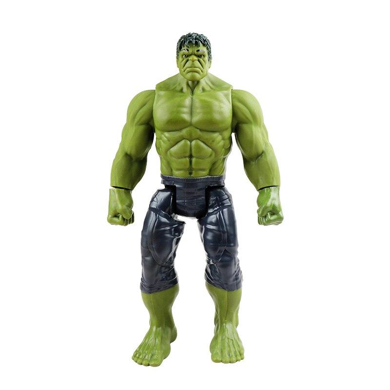 30 см Marvel Мстители игрушки танос Халк Бастер человек паук Железный человек Капитан Америка Тор Росомаха Черная пантера фигурка куклы - Цвет: hulk no box