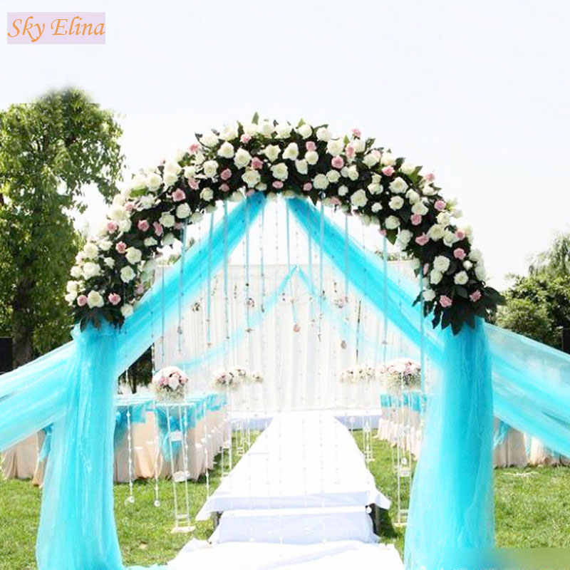 ... 48CMx5M Tulle Roll Crystal Fabric Organza Tulle Roll Spool Wedding  Decoration Birthday Party Kids Baby Shower ... 829a3ba4eb20