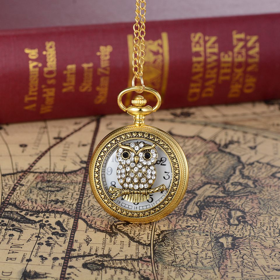 Vintage Charm Gold Unisex Luxury Roman Number Quartz Steampunk Pocket Watch Women Man Necklace Pendant with Chain Gifts NewVintage Charm Gold Unisex Luxury Roman Number Quartz Steampunk Pocket Watch Women Man Necklace Pendant with Chain Gifts New