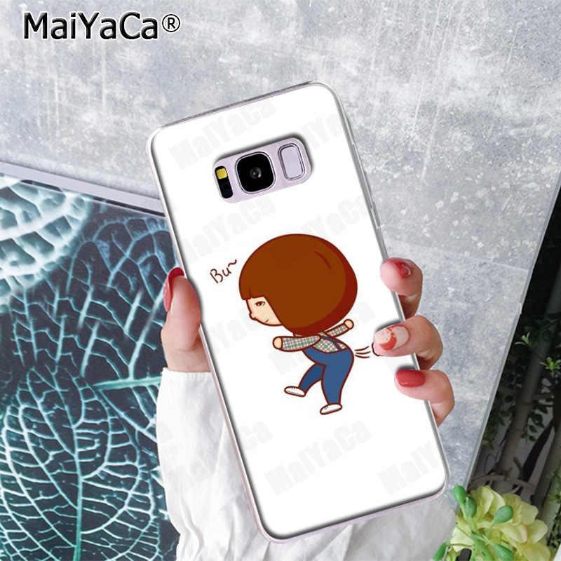 MaiYaCa moda divertido Sexy chica de dibujos animados trasero pedo de caso de teléfono para Samsung S9 S9 más S5 S6S6edge S6plus S7 s7 Edge S8 S8plus
