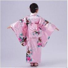 Новинка; детское платье для костюмированной вечеринки; платье-кимоно в японском стиле для маленьких девочек; Детские винтажные танцевальные костюмы юкаты для девочек