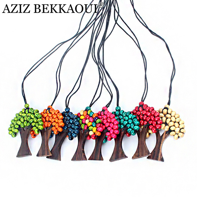 Beads rainbow life tree pendant necklace christmas tree colorful beads rainbow life tree pendant necklace christmas tree colorful pendant necklaces wood beads tree pendants aloadofball Gallery