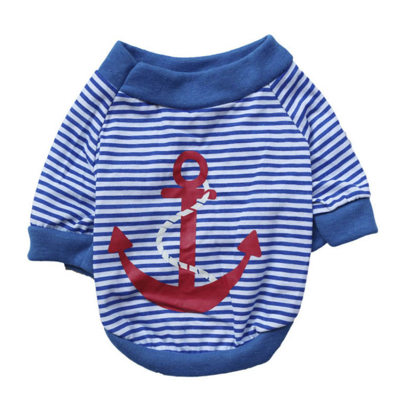 Cotton-t-shirt-for-Dogs-Fashion-Stripe-Anchor-Summer-Dog-Clothes-Small-Pet-Clothing-Teddy-Poodle