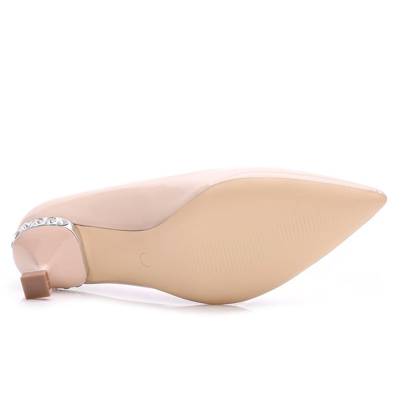 En 248 Beige Soirée Cristal Cuir Femmes Hauts Escarpins Chaussures 6 Beige Pompes noir De Bout Pu K rouge Dames Pointu Talons Cm Mariage Printemps Rd1vnW16