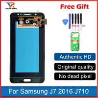 Super AMOLED For Samsung Galaxy J7 2016 J710 J710F J710FN J710M J710Y LCD Display Touch Screen