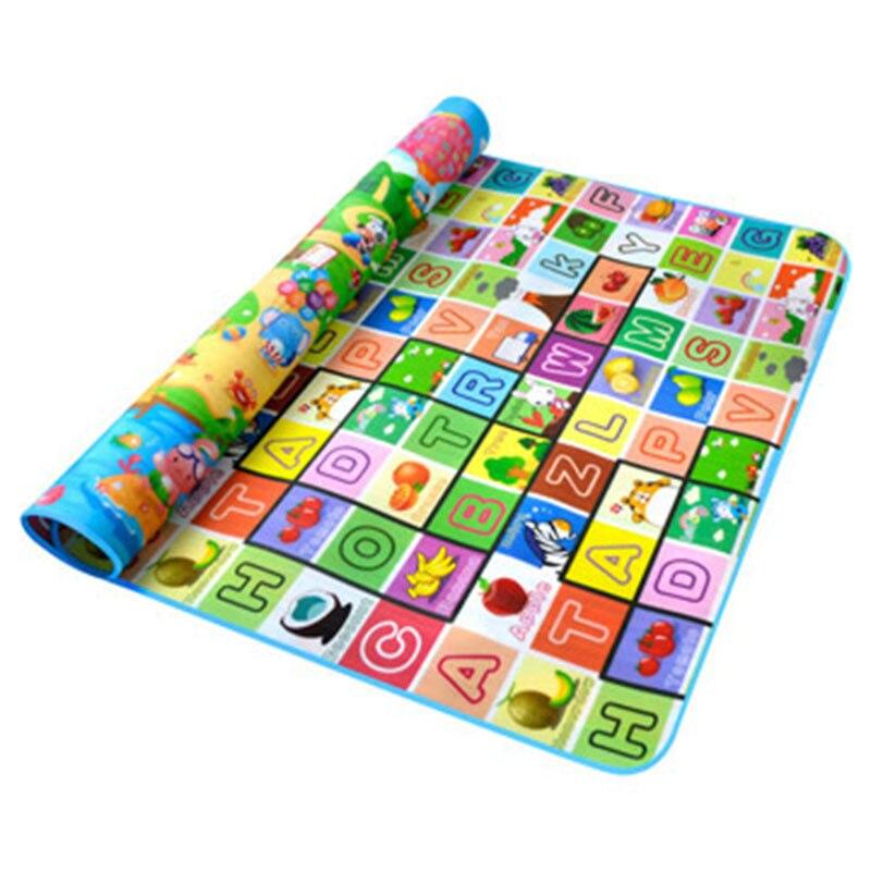 Jeu pour enfants tapis rampant bébé tapis environnement ramper couverture PE coton bébé jouets tapis enfants tapis fruits lettres