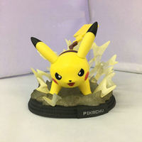 12CM Pikachu Electric Scene Aciton Figures Anime Game Figure Toys Kids For Children Boys Birthday Christmas Gifts Free Shipping